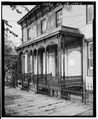 DETAIL OF CAST-IRON FRONT PORCH - 510-512 Clay Street (Double House), Lynchburg, Lynchburg, VA HABS VA,16-LYNBU,22-2.tif