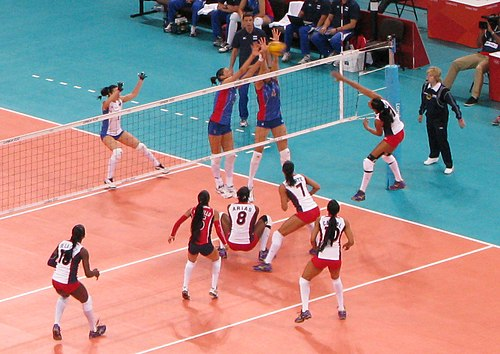 Russia and Dominican Republic women's volleyball teams at the 2012 London Olympics