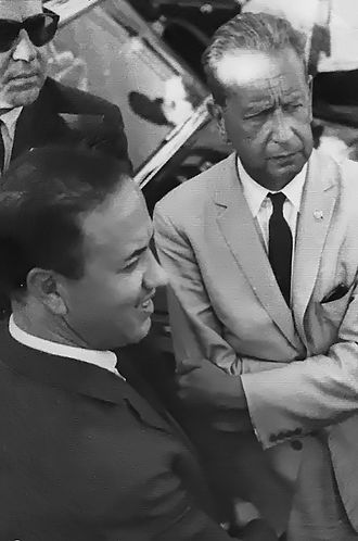 Beji Caid Essebsi - Béji Caïd Essebsi with Secretary-General of the United Nations, Dag Hammarskjöld, in 1961.