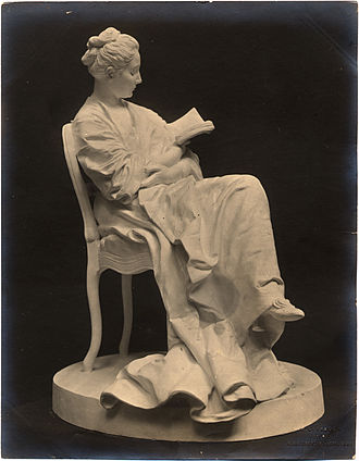Jules Dalou - The Reader, plaster statuette, circa 1871–1879. Petit Palais Museum