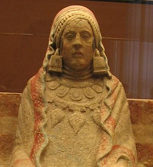 "Lady of Elche - The Lady of Baza, another Iberian ""lady"" bust."