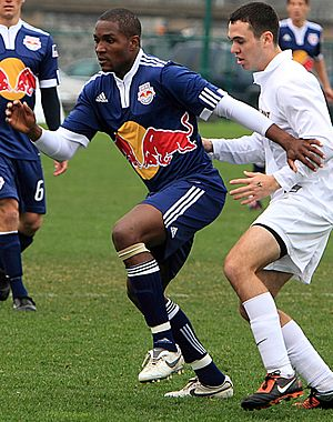 Damani Ralph - Ralph as a trialist with New York Red Bulls.