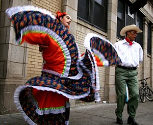 Lower West Side, Chicago - Mexican dancers in Pilsen in 2006