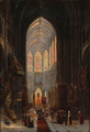 David Roberts, attributed to - Interior from the church of St. Jacques in Dieppe.png