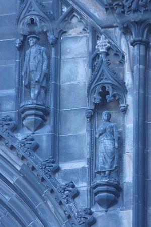Thomas Stuart Burnett - Davie Deans and Effie Deans as found on the Scott Monument, sculpted by Thomas Stuart Burnett