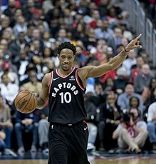 4f3e0f8b On January 1, 2018, DeMar DeRozan scored a franchise-record 52 points  against the Milwaukee Bucks, and became the third player in franchise  history to score ...