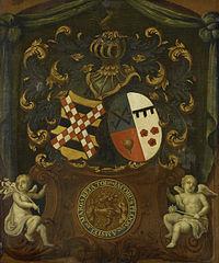 De alliantie-wapens van Jacob Ploos van Amstel en Margareta Tol, 1683