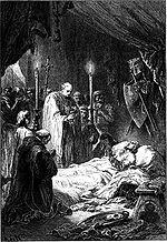 A morte de São Luís (ilustração de Alphonse Marie de Neuville, 1883)