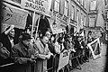 Demonstraties bij het Binnenhof Den Haag tijdens EEG-conferentie. Politiepaard r, Bestanddeelnr 923-0377.jpg