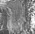 Desolation Glacier, valley glacier covered in rocks, trimline visible on mountain walls, September 16, 1966 (GLACIERS 5414).jpg