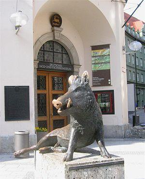 German Hunting and Fishing Museum - Entrance of Deutsches Jagd- und Fischereimuseum.