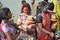 Devotees - Durga Idol Immersion Ceremony - Baja Kadamtala Ghat - Kolkata 2012-10-24 1528.JPG