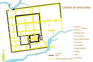 Dholavira - Layout of Dholavira