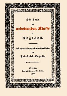 <i>The Condition of the Working Class in England</i> 1844 Germany book by Friedrich Engels