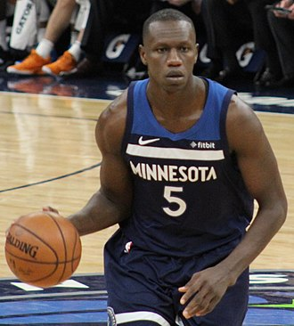 Gorgui Dieng - Dieng with the Timberwolves in 2019