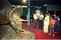Dignitaries Watching Triceratops - Dinosaurs Alive Exhibition - Science City - Calcutta 1995-06-15 214.JPG