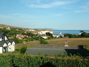 Freshwater, Isle of Wight - Dimbola Lodge (foreground, left), overlooking Freshwater Bay, 2006.