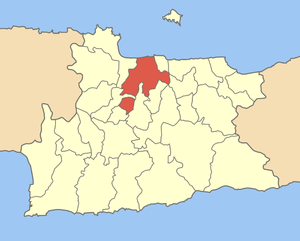 Locator map of Iraklio municipality (Δήμος Ηρα...