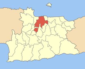 Locator map of Iraklio municipality (Δήμος Ηρα...