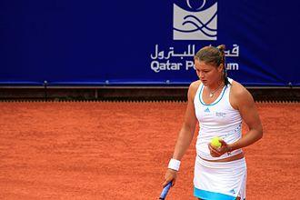German Open (WTA) - Champion 2008 - Dinara Safina during the final match.
