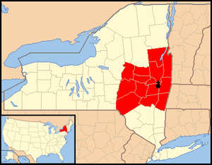 Roman Catholic Diocese of Albany - Image: Diocese of Albany map 1