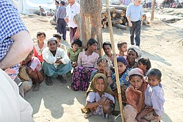 Rohingya in de staat Rakhine in Birma