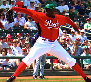Dontrelle Willis - Willis with the Cincinnati Reds.