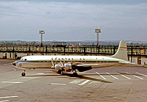 Spantax - Spantax Douglas DC-7C at London Gatwick Airport in 1966
