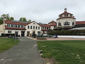 Douglaston Park - The historic Douglaston Manor Clubhouse.