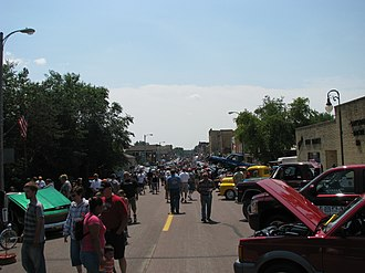 Montgomery, Minnesota - Downtown Montgomery during the 74th Annual Kolacky Days Festival