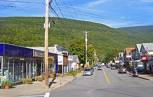 Phoenicia, New York - View east from NY 214 along Main Street