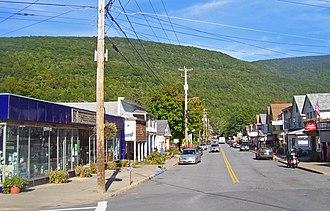 Phoenicia, New York - View east from NY 214 along Main Street