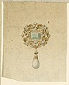 Drawing, Design for brooch with green diamonds and pearls, 16th century (CH 18545731).jpg