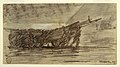 Drawing, Fishermen Beaching a Boat, Cullercoats, England, 1881 (CH 18175079).jpg