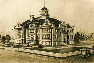 James John Elementary School (Portland, Oregon) - James John High School, predecessor to James John Elementary