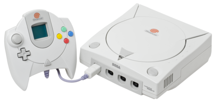 The Dreamcast, discontinued in 2002, was Sega's last video game console. Dreamcast-Console-Set.png
