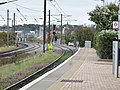 Dunbar railway station, East Lothian - platform view north.jpg