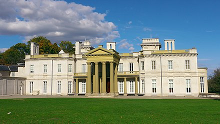 Dundurn Castle is a neoclassical mansion. It is presently a major attraction and landmark for the city Dundurn Castle in the Summer.jpg