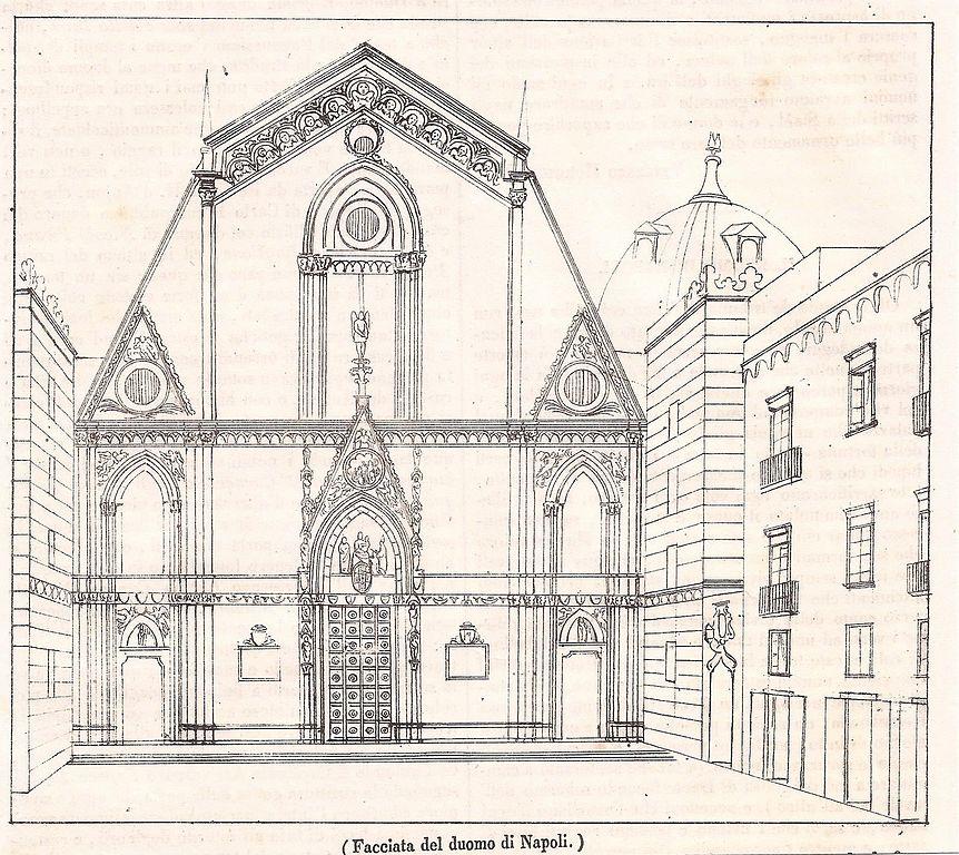 Ancien croquis de la Cathédrale de Naples.