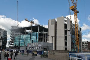 BBC Wales headquarters building - Image: During construction, BBC building, Central Square