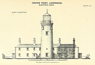 Souter Lighthouse - Image: ELLIOT(1875) p 163 Plate XV. Souter Point, east elevation