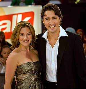 Sophie Grégoire Trudeau - Grégoire with her husband Justin Trudeau in September 2008, during her second pregnancy
