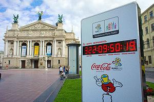 UEFA Euro 2012 bids - Lviv, Ukraine: counting down to start of UEFA Euro 2012