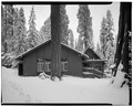 EXTERIOR, LOOKING WEST - Camp Kaweah Historic District, Cafeteria, Three Rivers, Tulare County, CA HABS CAL,54-GIFO,1-A-3.tif