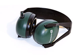 Earmuffs - A pair of Husqvarna acoustic earmuffs.