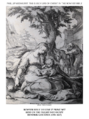 Early life of Christ in the Bowyer Bible print 10 of 21. flight of the holy family into Egypt. Goltzius.png