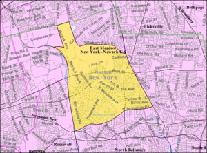 East Meadow, New York - U.S. Census Map
