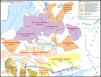 Balts - During the Migration Period in 5-6th century CE, the area of archeological cultures identified as Baltic is becoming more fragmented.