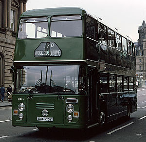 Scottish Bus Group - Eastern Scottish Eastern Coach Works bodied Leyland Fleetline in September 1979