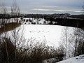 Ecritures sur le lac gelé du terril St Jacques - panoramio.jpg